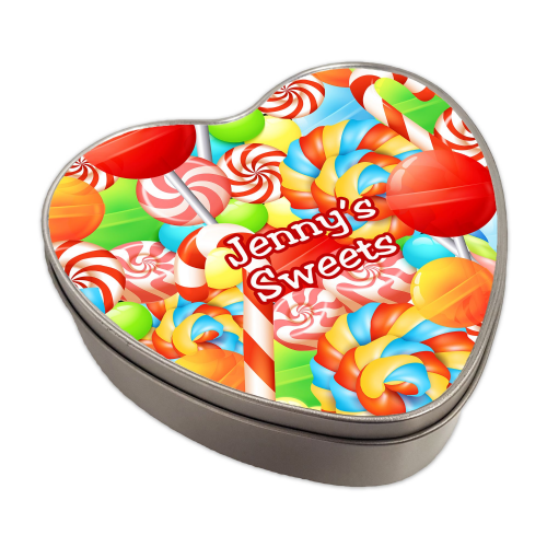 Personalised Sweets Heart Shaped Metal Keepsake Tin (1)